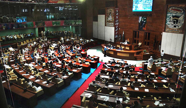 Sindh Assembly Transacts Agenda amid Protest