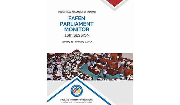 Provincial Assembly of Punjab 26th Session Report