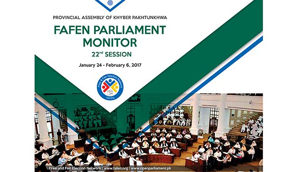 Provincial Assembly of KP 22nd Session Report
