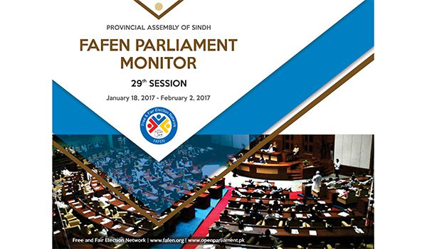 Provincial Assembly of Sindh 29th Session Report