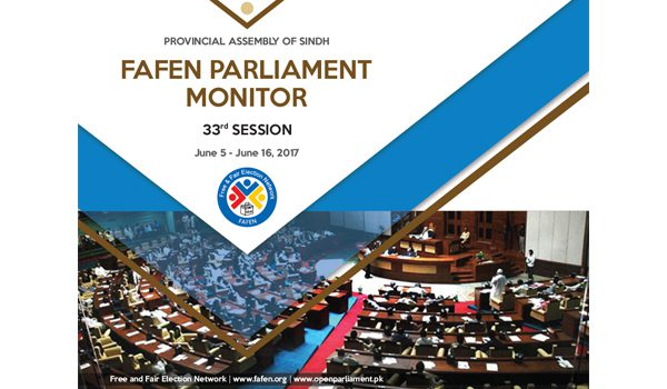 Provincial Assembly of Sindh 33rd Session Report